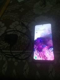 Galaxy s20 plus caiu e quebrou tela falhando e tampa quebrada