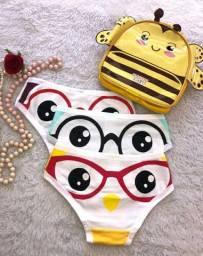 Kit calcinha infantil (P) com mochila