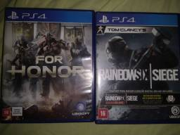 Vendo Rainbow six e For Honor ótimo estado