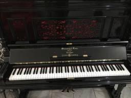 Piano de armário Steinway & Sons - novo -preto - som inimitavel