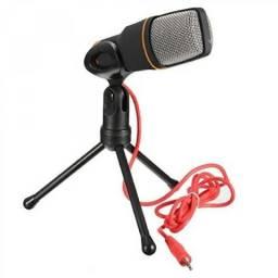 Microfone Condensador Gravacao Pc Cabo Tripe + Pop Filter