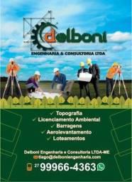 Topografia, Licenciamento Ambiental, Georeferenciamento, Barragens, Loteamentos