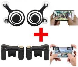 Par de Joystick + par de gatilhos R1 L1 - kit para jogar no celular (PUB, Free Fire,etc)