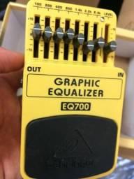 Behringer Eq 700 pedal equalizador 7 bandas ótimo custo beneficio