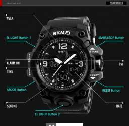 77e5ffe9892 Relógio Masculino Skmei 1155B Original Esportivo Prova D´água