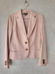 Blazer feminino rosa Bebê