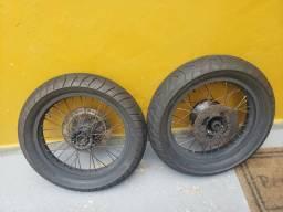 Rodas da falcon motard com pneus 1.000