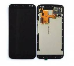 Display Tela Touch Frontal Lcd Motorola X Style XT1572 X3 Preto - Já Instalado