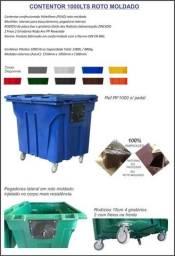 Contêiner de lixo 1000lts no processo de roto moldado