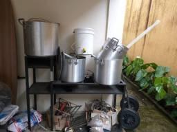 Kit para fabricação de cerveja caseira