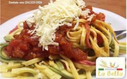 Massa artesanal La bella spaghettini, paglia & fieno, integral