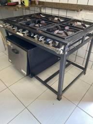 Fogão industrial 6 bocas + forno