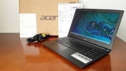 """Notebook Acer I3 7ª Ger, 15.6"""", 4GB Ram, HD 1TB, na caixa c/ nota e garantia de fábrica!"""