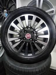 Rodas Fiat aro 15 com pneus