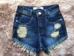 Short jeans na promoção
