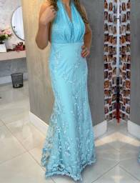 Vestido longo festa azul Tiffany Agilitá