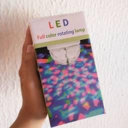 Globo de luz colorido giratório + bocal