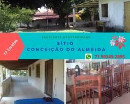 Sensacional Sítio município Conceição Almeida, 17 tarefas, casa sede 3 quartos, 02 suítes