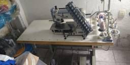 Máquina de rebater elástico 12 agulhas industrial