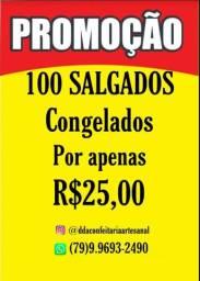 PROMOÇÃO 100 SALGADOS
