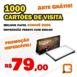 Cartões de visita | 1.000un - R$79,00