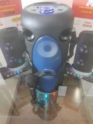Caixa Amplificada Bluetooth bazuca com microfone