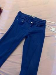 Calça skinny azul royal
