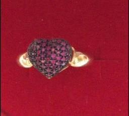 Anel com pedras naturais em OURO 18 1.400