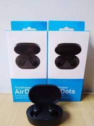 Fone AirDots Bluetooth 5.0 True Wireless Preto