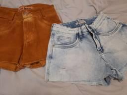 3 shorts por 80 reais/ nunca usados!
