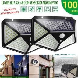 Super Luminária Solar 100 lds- 3 funções