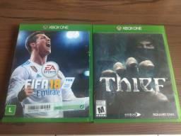 Jogos Xbox One Thief e FIFA 18