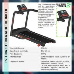 Esteira modelo advanced com sistema de inclinação eletrônico e marcação de treinos