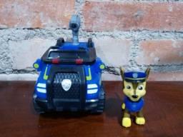 Carro Policial Chase+Veículo Marinho Zuma Patrulha Canina