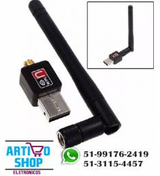 Adaptador Wireless 2.0 Antena Usb Wifi 1200mbps Sem Fio