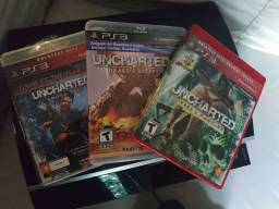(trocas)PS3 FAT + uncharted trilogia