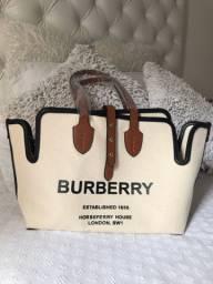 Bolsa sacola burberry canvas lona - nova