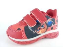 Tênis LadyBug Com Luz - Velcro - Infantil