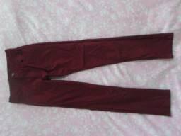 Calça vermelha feminino
