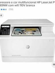 Impressora HP Laserjet pro M180NW  Laser colorida 110v