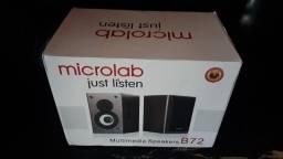 Caixa de Som Microlab B72 24W RMS-Troco
