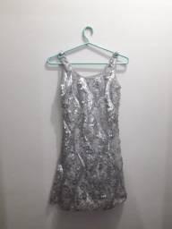 Vestido cinza lantejoulas ( Comprado na Renner)