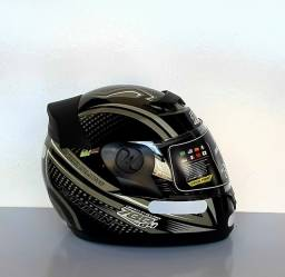 Capacete Moto Protork G4 CarbonX Brilhante Coleções
