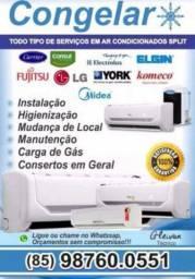 Instalação manutenção conserto em ar condicionado em geral