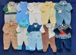 Lote de roupas bebê menino de 0 a 9 meses.