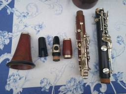 Clarinete Sib Wiston Boston Americana em madeira Aroeira