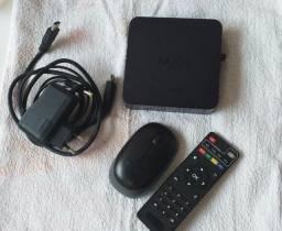 TVBox mxq + mouse óptico sem fio (USB)