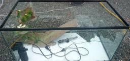 aquaterrario para tartaruga 89x40x40cm
