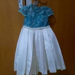 Vestido de festa Via Flora tamanho 3 a 4 anos