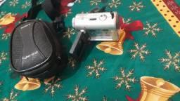 Câmera digital com cartão usb e filmadora cabe na palma da mão